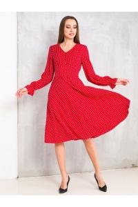 Платье нежное с пуговками