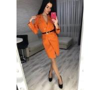 Платье пиджак с ремнем