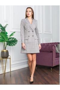 Платье пиджак на пуговицах