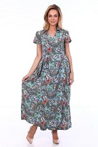 Платье на запах с воротником