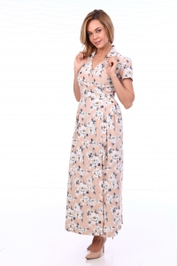 Платье на запах цветы