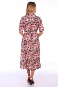Платье миди с принтом бабочки