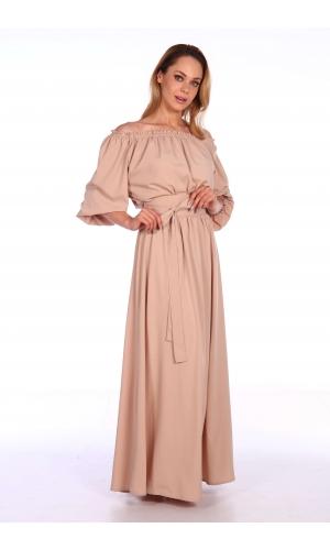 Платье однотонное макси