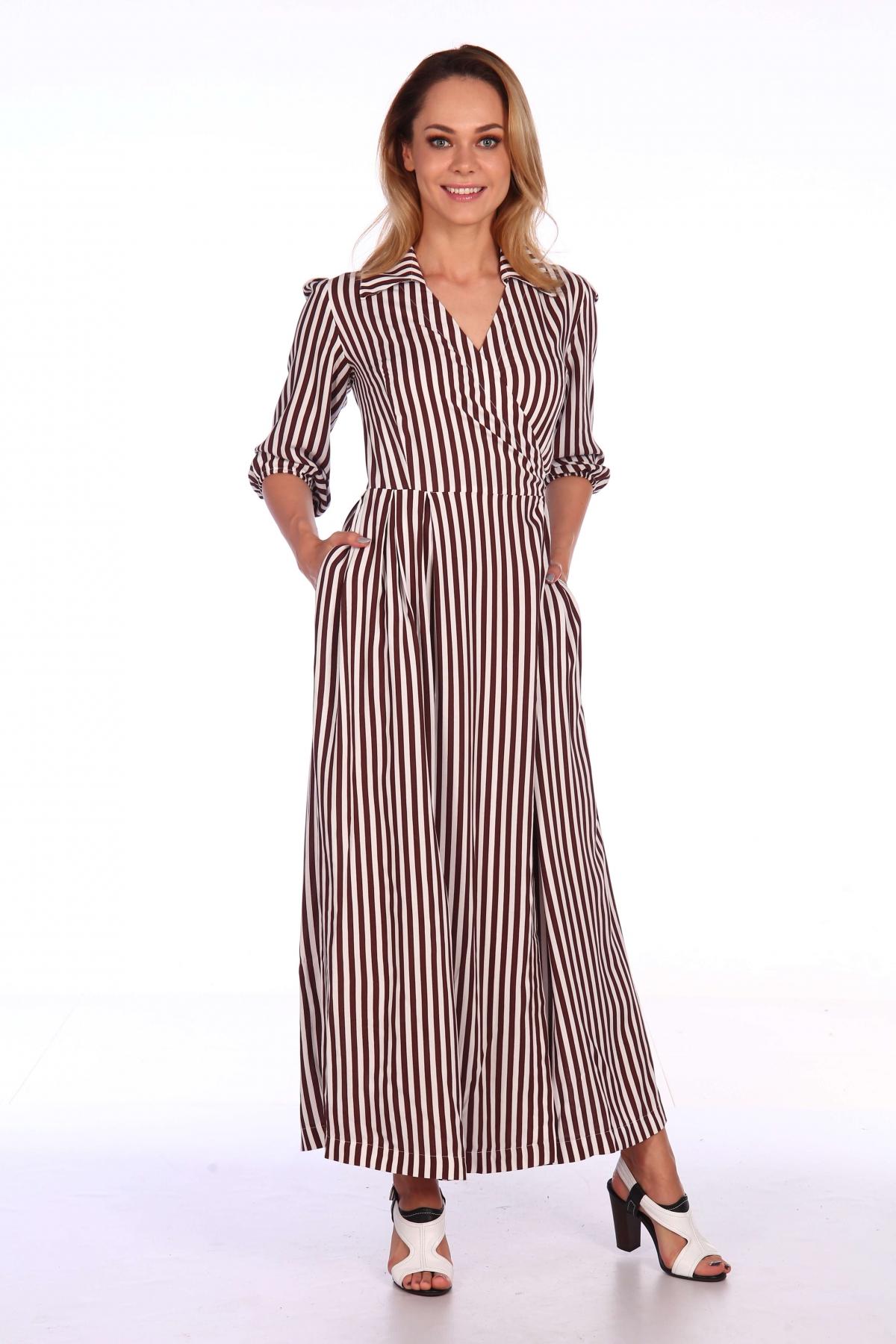 Платье на запах в полоску